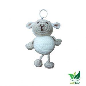 جاکلیدی بافتنی طرح گوسفند کد 1658